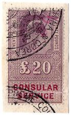 (I.B) Edward VII Revenue : Consular Service £20 (Court for China & Korea)