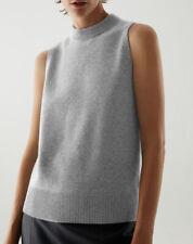 Cos Grey Cashmere Plain Knit Vest Size L U.K. 18