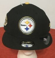 RARE! New Era Pittsburgh Steelers ~ NFL 6-TIME CHAMPIONS 9FIFTY CAP SNAPBACK HAT