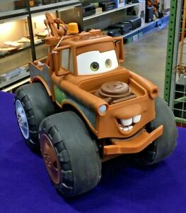 "14"" Tow Mater Talking Toy Disney Cars Push and Pull Truck 2014 Jakks"