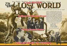 "THE LOST WORLD 1925 Dinosaur STOP MOTION = MOVIE POSTER HERALD 8 Sizes 18"" - 3FT"