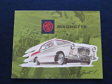 MG MAGNETTE MARK III 1960 Sales Brochure Fold Out to Poster Size EUC