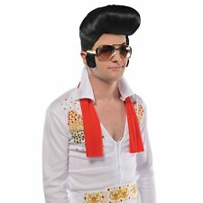 Elvis Big Shades Sunglasses & Sideburns Adults Mens Fancy Dress Accessory