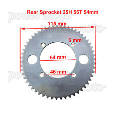54mm 55 Tooth Rear Chain Sprocket For 47 49 ccScooter Pocket Bike Mini ATV Quad