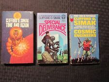 1964/82 CLIFFORD SIMAK Paperback LOT of 3 Time & Again Deliverance Cosmic Engine