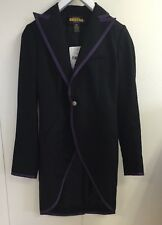 Rugby Ralph Lauren NWT Purple Trim Tuxedo Tailcoat Size 2 NWT