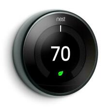 GOOGLE NEST LEARNING THERMOSTAT | 3RD GEN | T3018US | BLACK-NEW