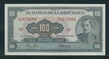 COLOMBIA BANKNOTES $100 1965