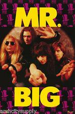 LOT OF 2 POSTERS :MUSIC : MR.  BIG - GROUP POSE  - FREE SHIPPING  #8162   LW22 B