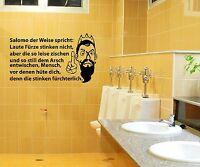 Aufkleber WC Deckel, Toiletten Tattoo, Klo Sticker, Bad Spruch, Schriftzug 3C016