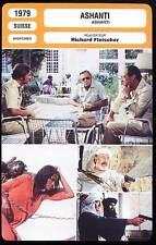 ASHANTI - Caine,Ustinov,Holden,Fleisher (Fiche Cinéma) 1979