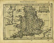 1651 Genuine Antique map of England, Mercator Jansson