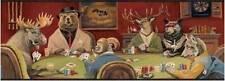 Wallpaper Border Moose, Bear, Elk, Fox, Sheep Poker Night! Chesapeake Card Game