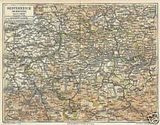 Österreich ob der Enns Oberösterreich Mühlviertel LANDKARTE v. 1897 Traunviertel