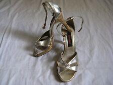 GRACELAND Damen Schuhe Pumps Riemchen Kork Hellgold Gr.37 US 6 women high heel