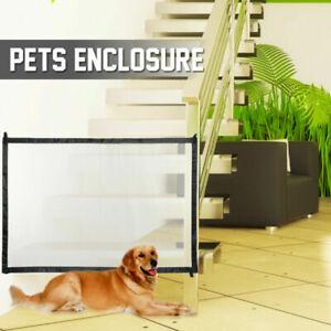 Retractable Mesh Pet Dog Cat Gate Safe Net Guard Fence Enclosure Barrier
