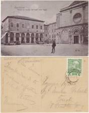 CAPODISTRIA - PIAZZA DEL DUOMO CON CAFFE' DELLA LOGGIA (SLOVENIA) 1910