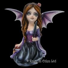 *ASTRID* Bat Wings Goth Girl Fairy Art Resin Figurine By Nemesis Now (19cm)