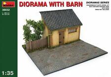 Diorama with Barn (Dioramas, Plastic model kit) 1/35 MiniArt  36032