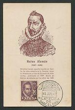 Spain Mk 1948 Mateo aleman writer doctor maximum mapa maximum card mc cm c9061