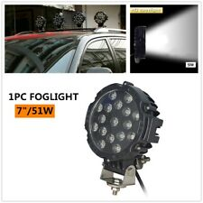"Work Lights 7"" 51W Round Spot LED Pods Light Bumper Driving Lamp 1PC w/Bracket"