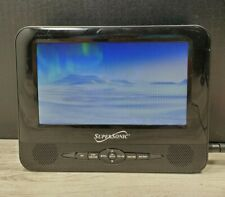 "Supersonic SC-198 7"" Dual Screen Portable/Rechargeable DVD/MP3 Player +USB/SD"