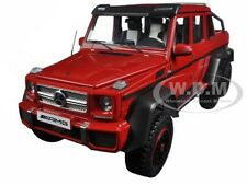 MERCEDES G63 AMG 6X6 RED 1/18 MODEL CAR BY AUTOART 76304