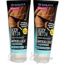 Soraya SATZ 2x BODY DIET24 NACHT konzentrat Anti-Cellulite Fettbrenner 2x200ml