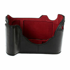 LeicaTime Leather Half Case for M240 Black with Red Interior