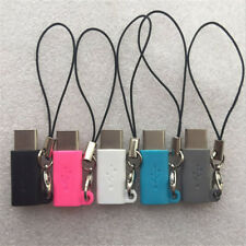 2Pcs Type Male to Micro USB Female Data Adapter Converter Connector Keychain -GV