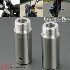 Chrome 39mm Fork Tube 3in Extensions For Harley Dyna Glide Sportster XL 883 1200