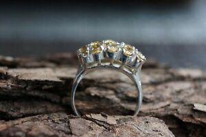 Citrine Natural Gemstone Solid Fine 925 Sterling Silver Ring Size 6 - L½