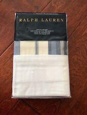 RALPH LAUREN Allister HAGAN Stripe KING 2pc Pillowcases PAIR Blue Cream $130 NWT