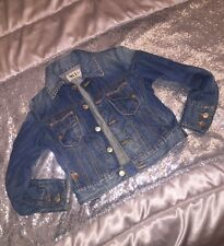 GIUBBOTTO JEANS TAKE TWO 9/10 ANNI DENIM FASHION COAT JACKET BLU