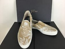 Sperry® for J.Crew CVO Slip-On Sneakers In Khaki Floral Size 10.5 M  AS-IS