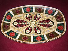 Inusual Retro Plato de Vidrio con mosaico de color en contraste y motivos florales