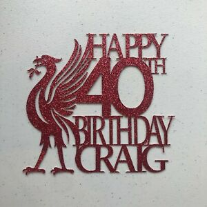 Liverpool FC Personalised Cake Topper