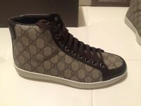 Authentic Gucci shoes mens 322733 size 6.5 u.s, Gucci sneakers mens brown