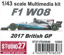 Studio27 1/43 F1 W08 2017 Britannique Gp Fd43040 Multimédia Kit de Japon F/S