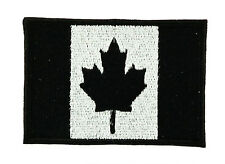 CANADA BLACK CANADIAN FLAG PATCH Patches backpack BADGE IRON ON MILITARY SMALL
