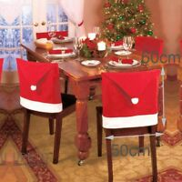 Party Christmas Decoration Table Red Hat Decor Dinner Chair Cover Clause fromUSA