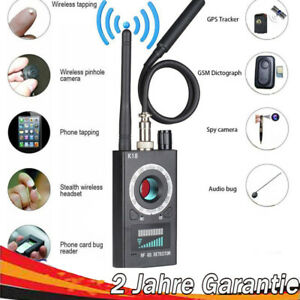 Wireless RF Signal Detektor Versteckter Kamera GSM Audio Bug Finder GPS Scan DE
