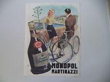 advertising Pubblicità 1942 LIQUORE MONOPOL MARTINAZZI