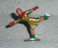 """VINTAGE Barclay Lead """"Girl Figure Skater In Gold"""" B181 Very Near Mint Lot D"""