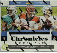 2020 Panini Chronicles Football Factory Sealed Hobby Box 2 Autos + 1 mem per box