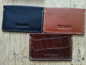 Wallet Leather Wisecracker The Covington Card and Cash Slip