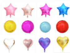 """18"""" Foil Star Heart Round Balloons Wedding Party Festival Decor Baby Shower"""