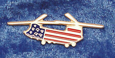 Empire Pewter Chinook Helicopter Stars & Stripes Flag Pin
