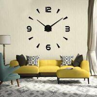 Large Wall Clock 3D Stickers Modern Home Decor Decorative Clocks Design Watch