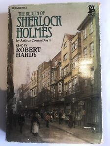 Sherlock holmes audio cassettes X2. Read by Robert Hardy.